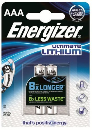 Energizer Ultimate Lithium AAA, 2stk